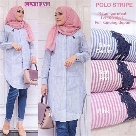 Tunik Kekinian polo baju tunik kekinian murah wanita atasan muslim