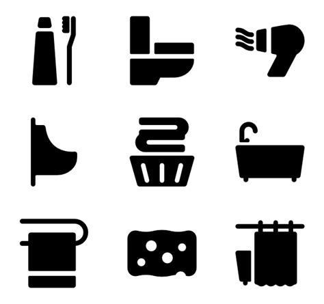 bathroom icons bathroom icons 1 634 free vector icons