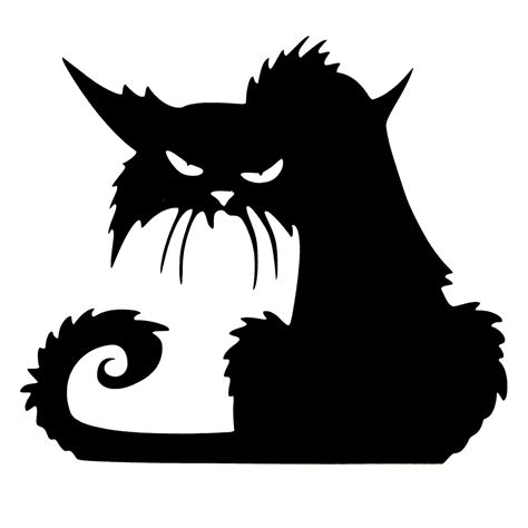 printable halloween decorations black and white halloween scary black cat glass sticker halloween decor at