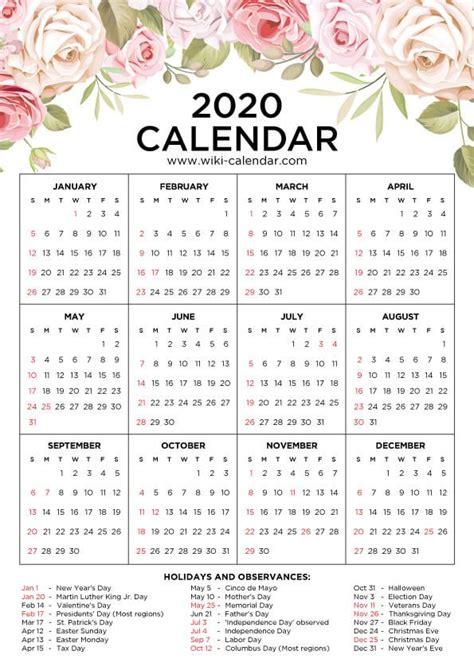 floral calendar printable yearly calendar printable calendar  print calendar