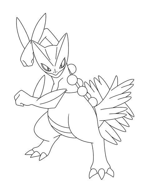 pokemon coloring pages sceptile free coloring pages of blaziken mega
