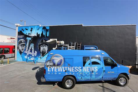eye witness news   la dodgers mural  mlb los angeles graffiti artist  hire