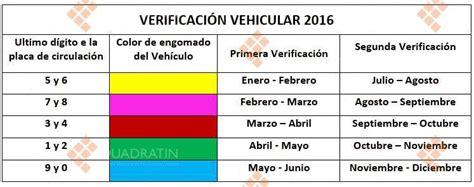 costo de verificacin 2016 verificaci 243 n vehicular ser 225 semestralmente en el 2016