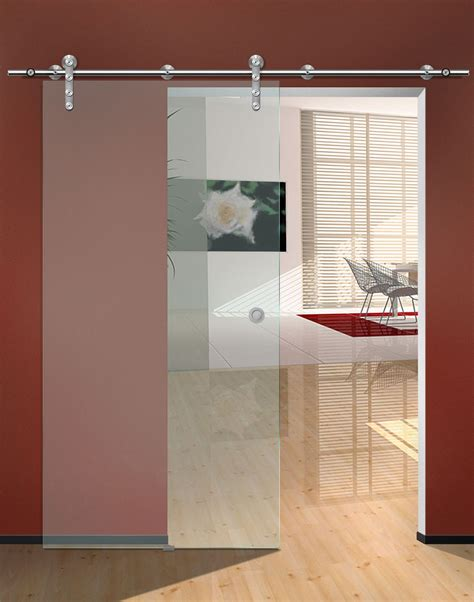 Kitchen Cabinet Door Glass Inserts by Single Frosted Glass Sliding Door For Small Home Office