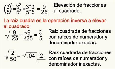 calcula la raiz cuadrada ejemplo de ra 237 z cuadrada de fracciones