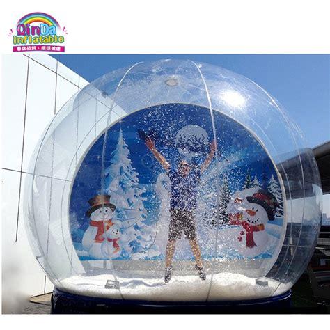 christmas decoration custom empty snow globe inflatable