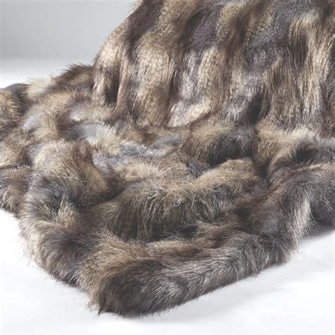Animal Fur Rugs For Sale Grey Longhaired Faux Fur Throw Blue Mountain