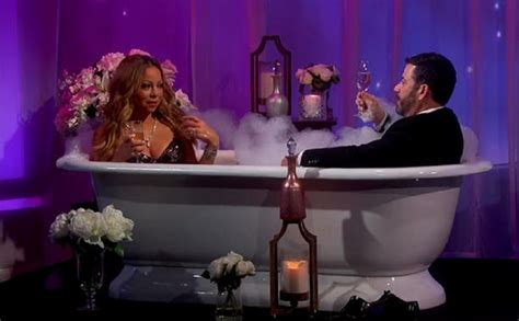 mariah carey bathtub ultimate diva mariah carey takes a bubble bath with jimmy kimmel celebrity