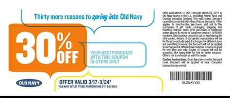old navy coupons in store canada old navy canada save 30 until march 24th printable