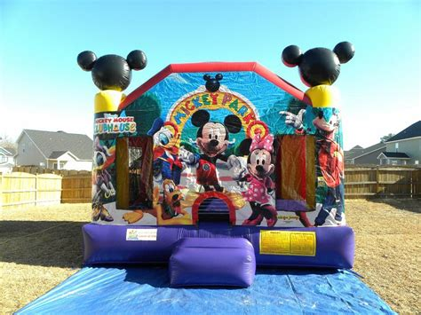 Chicago Moonwalks Rental Mickey Mouse Bounce House Party Invitations Ideas