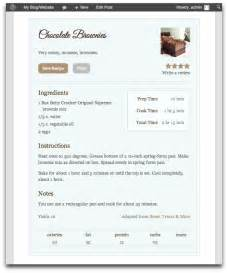 Template For Recipe by 7 Best Wordpress Plugins For Recipe Blogs