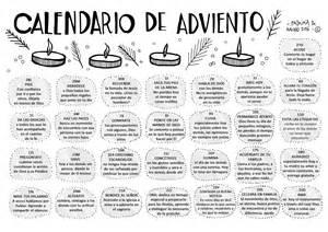 Calendario De Adviento Parroquia La Inmaculada Adviento Y Navidad 2016