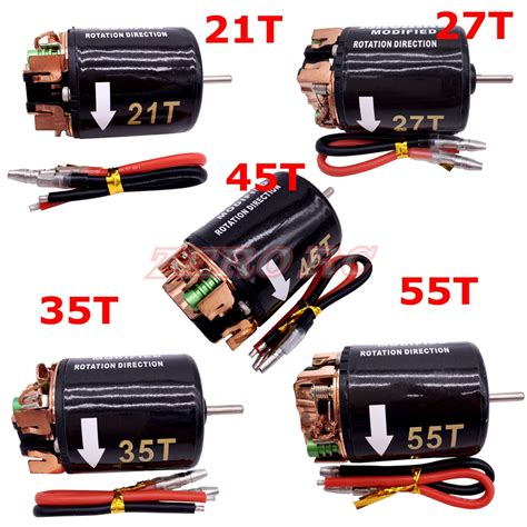 Motor 540 Brushed 27t 45t 55t 1 10 rc 540 brush electric motor 21t 27t 35t 45t 55t for rc4wd d90 d110 axial scx10 wraith rock