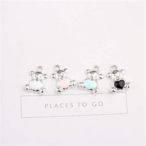 leenahar 10pcs zinc alloy 20 14mm enamel lovely drop charm pendant for bracelet