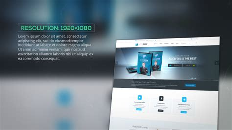 after effects web design template website presentation websites after effects templates