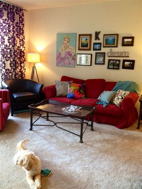decorating with red couches red couch living room attractive living room ideas