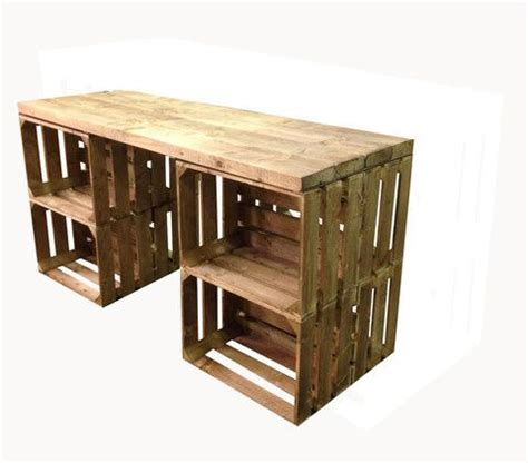 best 25 wood crate table ideas on crate