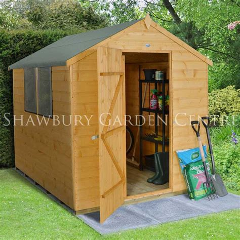 Assembled Garden Sheds by Forest Garden 6 X 8 Shiplap Apex Shed Assembled