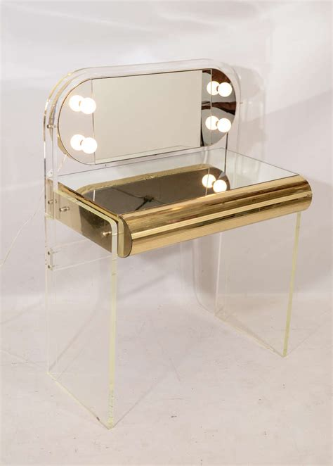 Lucite Vanity Table Lucite Vanity Table At 1stdibs
