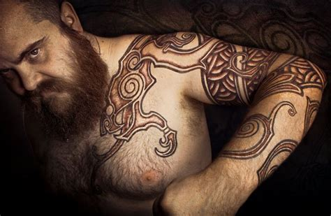 viking tattoo placement viking tattoos by peter walrus madsen dk viking