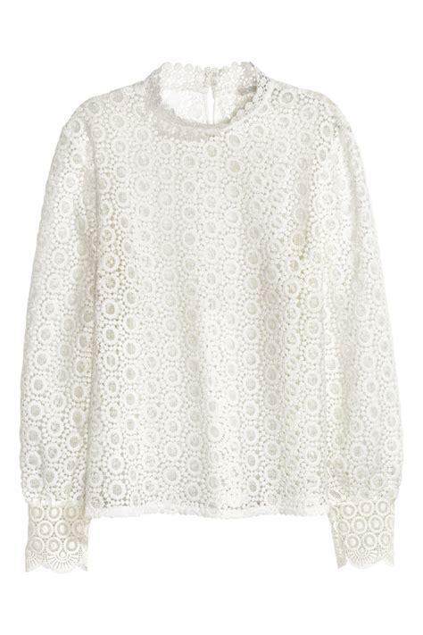 H M Blouse 2 lace blouse white h m us