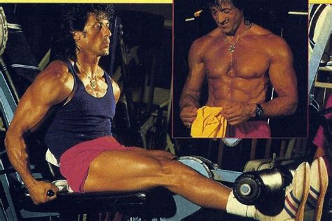 sylvester stallone bench press extreme rocky diet for nearly nonexistant body fat