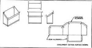 technical drawing pattern development straight line development