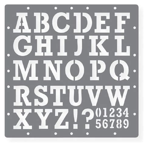 printable letters stencil  alphabets numbers