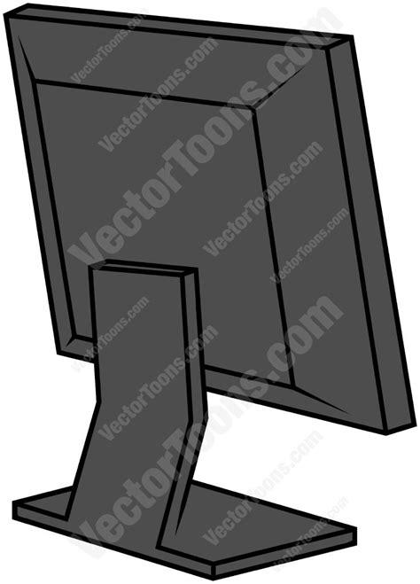 Cartoon Clipart: Back Of A Computer Screen