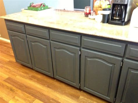 painted grey kitchen cabinets using chalk paint to refinish kitchen cabinets wilker do s