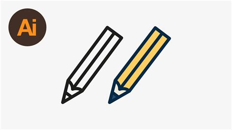 Drawing Vectors by Draw A Vector Pencil Icon In Illustrator