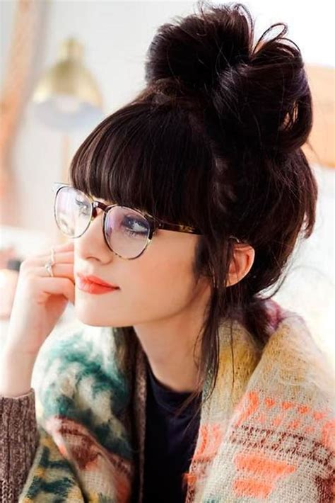 hairstyles with fringes and glasses 71 insanely gorgeous hairstyles with bangs nicestyles