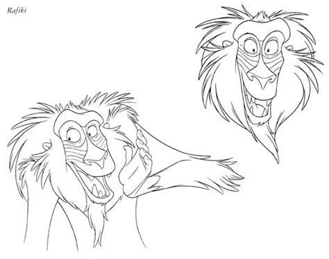 lion king rafiki coloring pages rafiki coloring book
