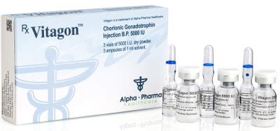 Vitagon Alpha Pharma 5000iu human chorionic gonadotropin injection vitagon