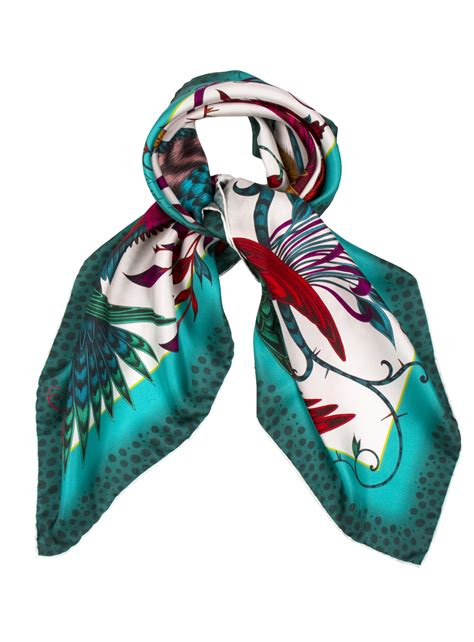 j shipley audubon classic silk scarf in turquoise by