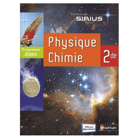 physique chimie 2de sirius sirius physique chimie achat et vente neuf d occasion sur priceminister rakuten