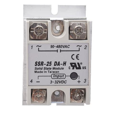 Ssr 25da Solid State Relay 25a Cnmf solid state relay ssr 25da h 25a 3 32v dc 90 480v ac w