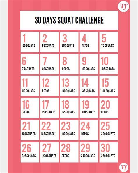 Serie C Calendrier 30 Days Squat Challenge Le Calendrier 224 Imprimer Sport