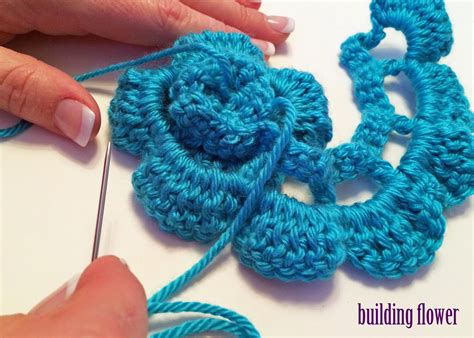 pattern crochet a flower crochet rochelle double crochet flower