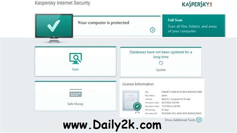kaspersky internet security 2016 license key until 2018