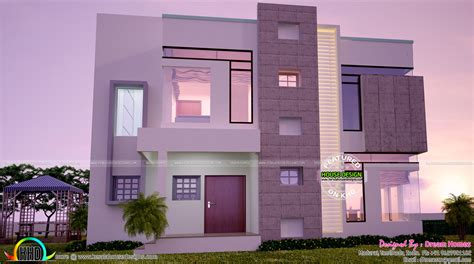 building houses with side views contemporary home all side views kerala home design and floor plans