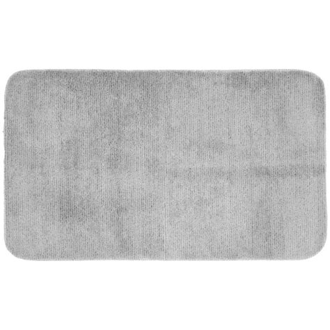 gray bathroom rug garland rug glamor platinum gray 30 in x 50 in washable