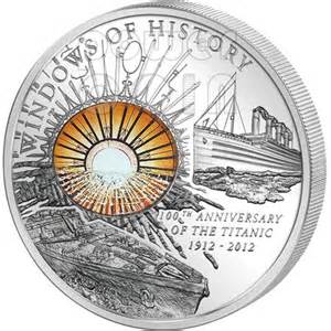 100th anniversary color titanic windows of history 100th anniversary silver coin