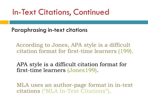 format apa in text citation mla style an introduction ppt video online download