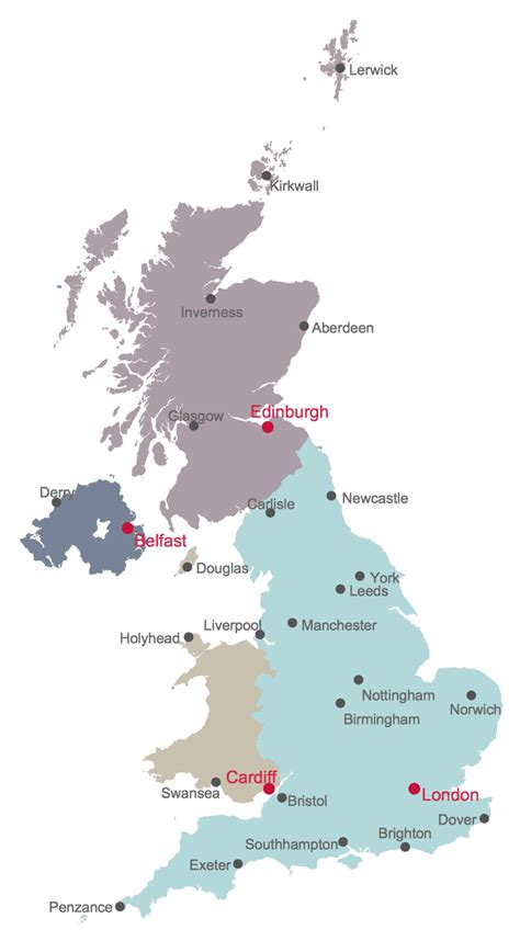 map uk with cities uk map