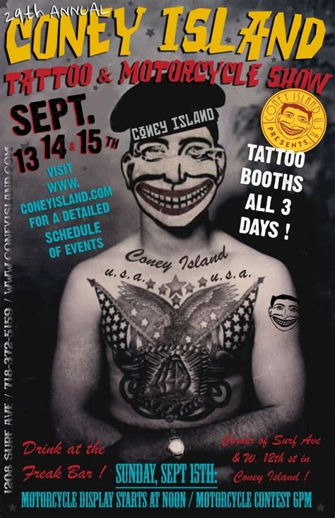 nyc tattoo history 29th annual coney island tattoo and motorcycle festival