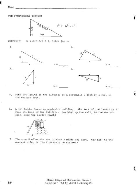 Integrated Math Worksheets by Integrated Math 1 Worksheets Free Worksheets Box And