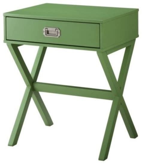 Green Accent Table Threshold Caign Side Table Green Modern Side Tables And End Tables By Target