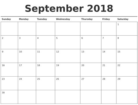 printable calendar september 2018 september 2018 calendar printable