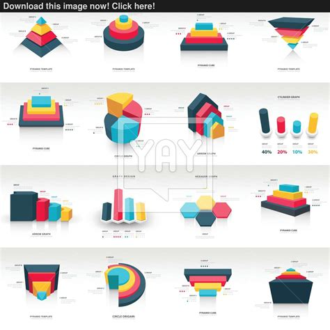 graph design 3d info graphic template vector   YayImages.com